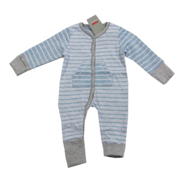 Kanz Nachtwäsche Schlafanzug Einteiler Vario-Fuß-Hand Blau Jungen Baby  Gr.62