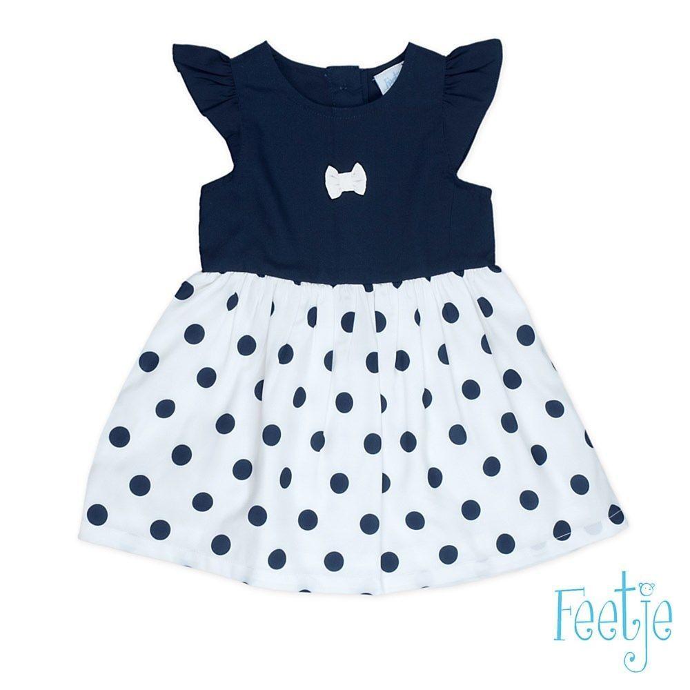 feetje mädchen kleid baby festlich blau gr.62-80