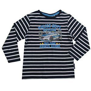 Salt and Pepper Jungen Shirt Motiv Polizei-Auto Kinder Blau Größe 92/98-128/134