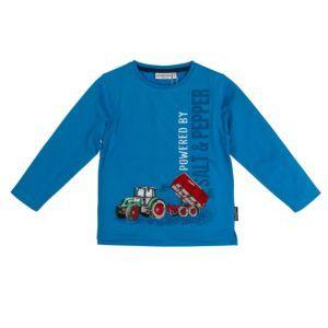 Salt and Pepper Jungen Shirt langarm blau Traktor Gr. 92/98-128/134