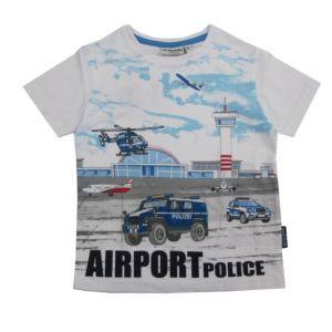 Salt and Pepper Jungen T-Shirt Kinder Motiv-Polizei Weiß Größe 92/98-128/134