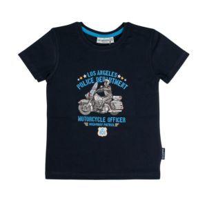 Salt and Pepper Jungen T-Shirt marineblau Polizei Gr. 92/98-128/134
