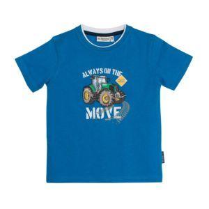 Salt and Pepper Jungen T-Shirt blau Traktor Gr. 92/98-128/134
