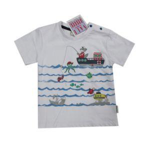 Salt and Pepper Jungen T-Shirt Weiß Gr.74-92