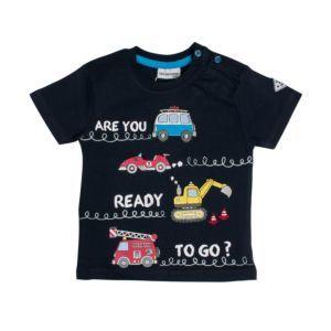 Salt and Pepper Jungen T-Shirt marine Fahrzeuge Gr. 74-92