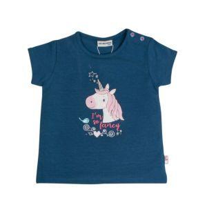 Salt and Pepper Mädchen T-Shirt blau Einhorn Gr. 74-92