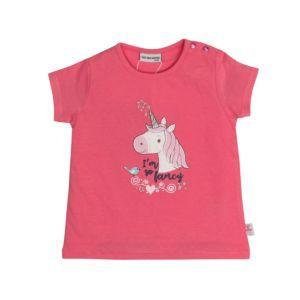 Salt and Pepper Mädchen T-Shirt Rosa Einhorn Gr. 74-92