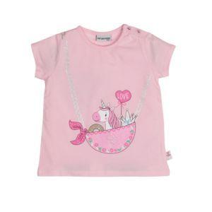 Salt and Pepper Mädchen T-Shirt rosa Einhorn Gr.74-92