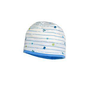 Maximo Jungen Mütze Sommermütze Weiß Hellblau Baby Größe 37-41
