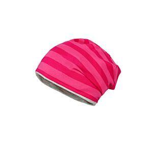 Maximo Mädchen Mütze Beanie Wendemütze Jersey Pink/Grau Gr. 49-53