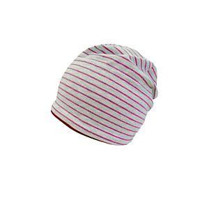 Maximo Mädchen Mütze Jerseymütze Beanie Grau Pink Gr. 49-53