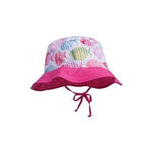 Maximo Mädchen Mütze Sonnenhut Sommer Pink Fische Gr. 45-53