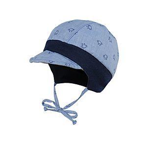 Maximo Jungen Mütze Sommermütze blau Gr. 37-49