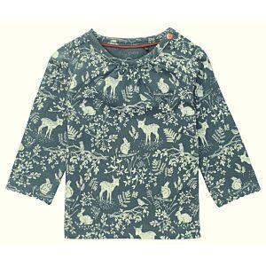 noppies Baby Shirt Langarm Wald Tiere Grün Mädchen Größe 62-92