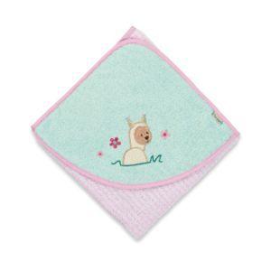 Sterntaler Baby Badetuch Handtuch Kapuzenbadetuch Lama Lotte Rosa 80x80cm