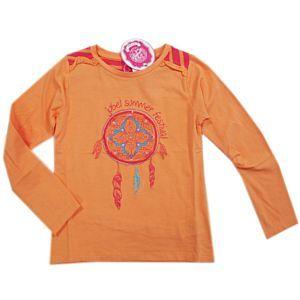 Jubel Mädchen Shirt langarm Orange Gr. 98-128