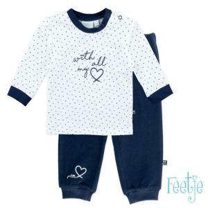 Feetje Schlafanzug Zweiteiler Blau Nachtwäsche Mädchen Kinder Größe 74-104