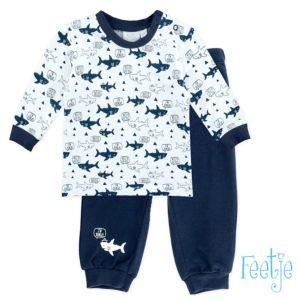 Feetje Schlafanzug Jungen Nachtwäsche Blau Zweiteiler Pyjama Größe 74-104