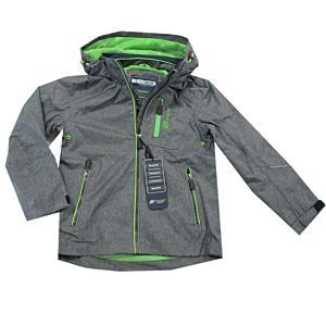 Outburst Jungen Jacke Funktionsjacke Grau Regenjacke Wasserdicht Kapuze Größe 104