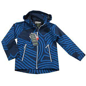 Outburst Jungen Jacke Funktionsjacke Wasserdicht Blau Kapuze Kinder Größe 98-140
