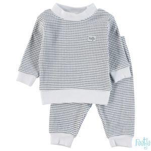 Feetje Schlafanzug Jungen Blau-Weiß Pyjama Zweiteiler Nachtwäsche Größe 80-104