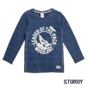 Sturdy Jungen Shirt Langarm Blau Größe 116, 140