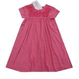 Königsmühle Mädchen Jerseykleid Kleid kurzarm rosé Rosen Größe 92-128