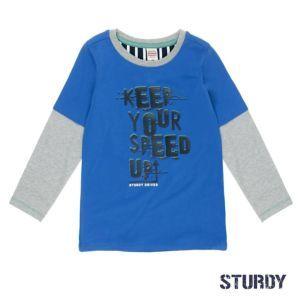 Sturdy Jungen Shirt Langarm Blau Gr. 92-128