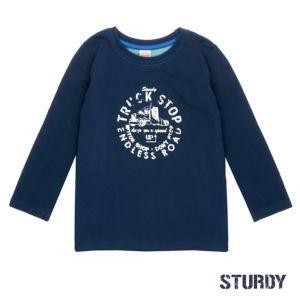 Sturdy Jungen Shirt Langarm Blau Größe 104, 116