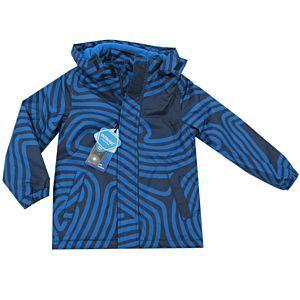 Outburst Jungen Jacke Winterjacke Regenjacke Wasserdicht Blau Kapuze Größe 92-128
