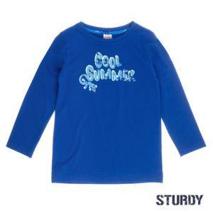 Sturdy Jungen Shirt langarm Blau Größe 92,98