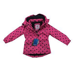 Outburst Mädchen Jacke Winterjacke Regenjacke Wasserdicht Pink Kapuze Größe 104