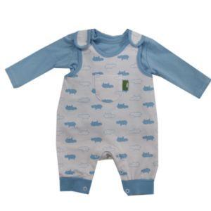Kanz Baby Strampler-Set Zweiteiler Jungen Blau Größe 56-68