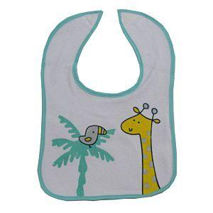 Dimo Tex Baby Lätzchen Klettlätzchen Giraffe Grün Mädchen Jungen