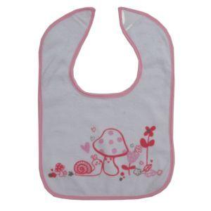 Dimo Tex Baby Lätzchen Klettlätzchen Pilz Rosa Mädchen