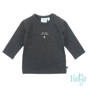 Feetje Baby Shirt Langarm Grau Jungen Größe 56-74 Basic