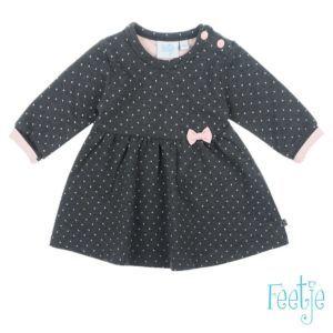 Feetje Mädchen Kleid Langarm Grau Baby Größe 56-74 Basic