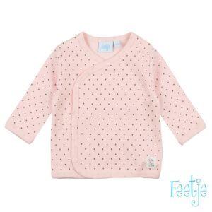 Feetje Baby Mädchen Shirt Langarm Wickelshirt Rosa Frühchenkleidung Größe 44-68 Basic