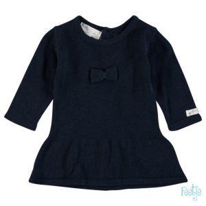 Feetje Mädchen Kleid Strickkleid Blau Taufe Baby Größe 56-86 Basic
