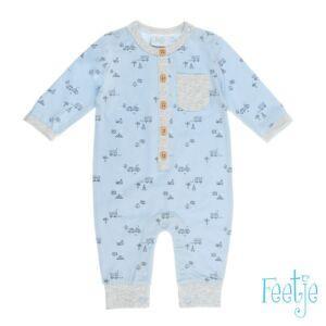 Feetje Babyanzug Overall Einteiler Jungen Baby Blau Größe 50-74