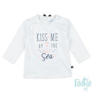 Feetje Shirt Langarm Baby Mädchen Weiß Größe 56-62
