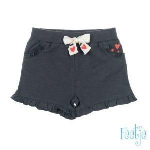 Feetje Mädchen Hose Shorts grau Gr. 74-86