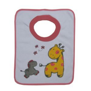 Dimo Tex Baby Lätzchen Schlupflätzchen Giraffe Rosa Mädchen