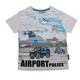 Kinder T-shirt Polizei grün 86 bis 128